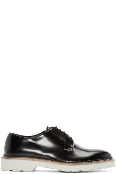 Alexander McQueen - Black Leather Derbys