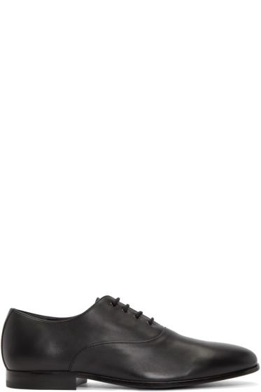 Alexander McQueen - Black Leather Oxfords