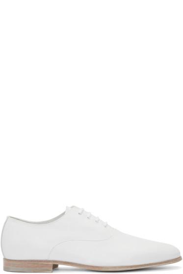 Alexander McQueen - White Leather Oxfords