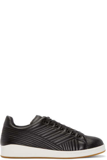 Alexander McQueen - Black Stitch Low-Top Sneakers