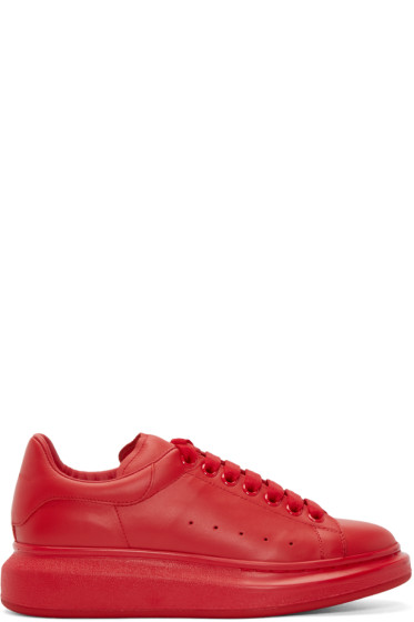 Alexander McQueen - Red Larry Low-Top Sneakers