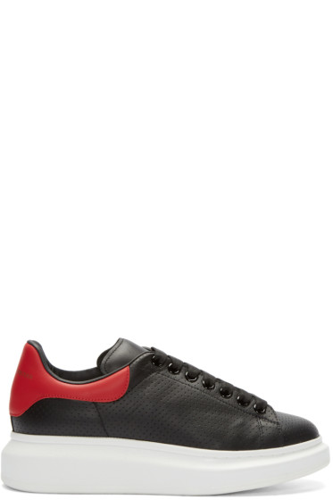 Alexander McQueen - Black Perforated Leather Sneakers
