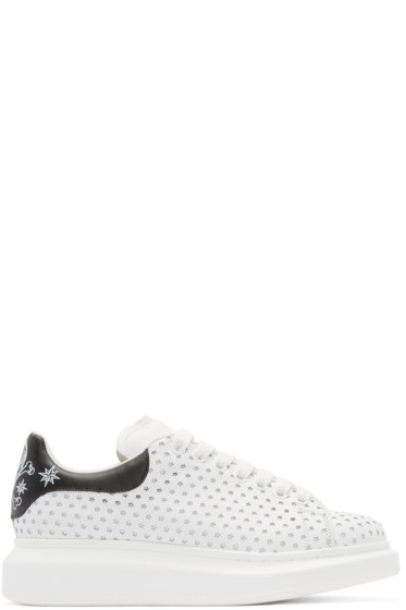 Alexander McQueen - White Leather Perforated Star Low-Top Sneakers