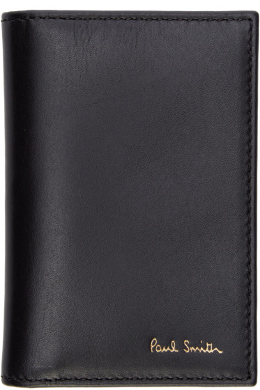 Paul Smith - Black Leather Bifold Wallet