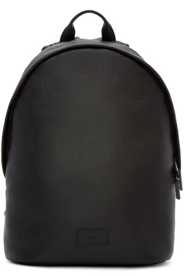 Paul Smith - Black Leather Backpack