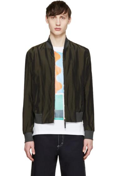 Paul Smith - Green Cupro Bomber Jacket