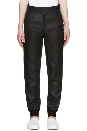 Paul Smith - Black Metallic Linen Trousers