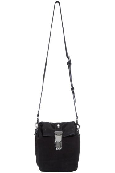 Opening Ceremony - Black Suede Athena Lunch Shoulder Bag