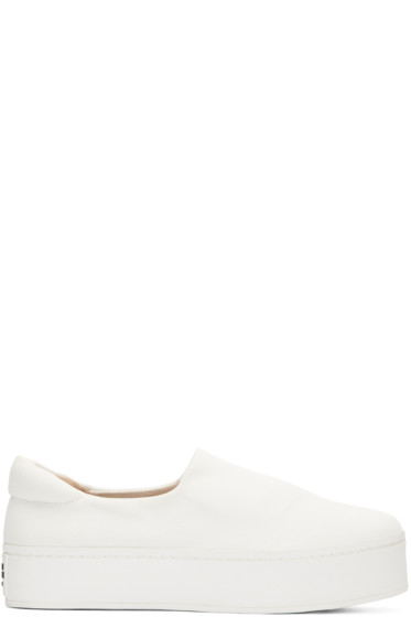 Opening Ceremony - White Slip-On Platform Sneakers
