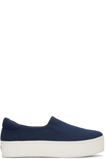 Opening Ceremony - Navy Slip-On Platform Sneakers