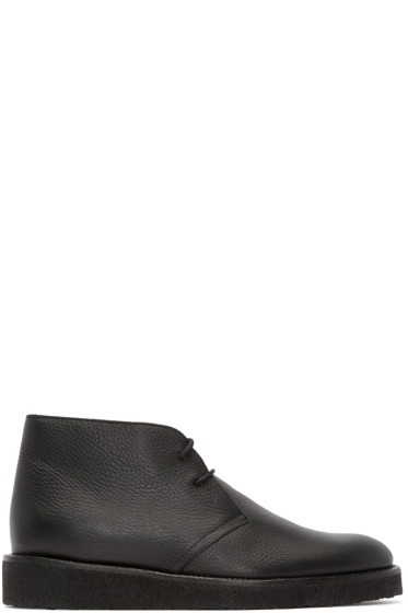 Opening Ceremony - Black Leather M1 Desert Boots
