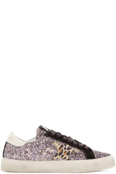 Golden Goose - Purple Glitter May Sneakers