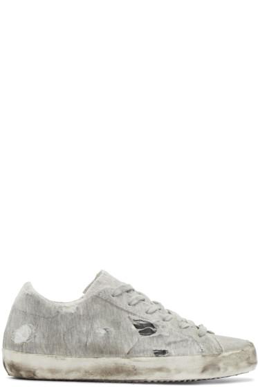 Golden Goose - Grey Jersey Superstar Sneakers