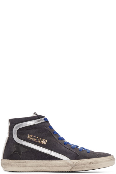 Golden Goose - Grey Distressed High-Top Sneakers