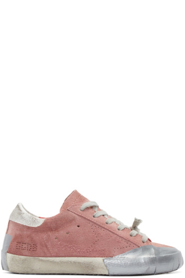 Golden Goose - Pink Suede Skate Superstar Sneakers