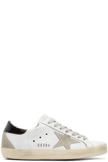 Golden Goose - White & Black Superstar Sneakers
