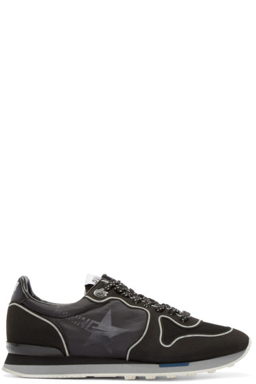 Golden Goose - Black Technical Neon Running Sneakers