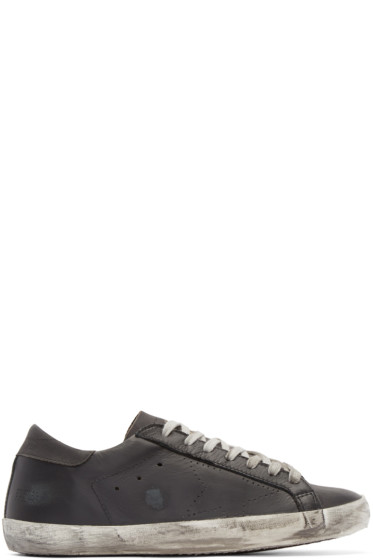 Golden Goose - Black Leather Skate Superstar Sneakers