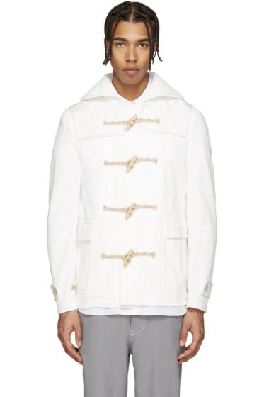 Comme des Garçons Shirt - White Corduroy & Vinyl Coat