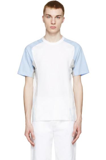 Comme des Garçons Shirt - White & Blue Cloud T-Shirt