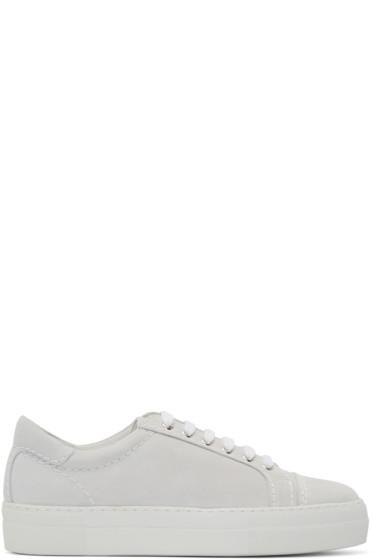 Comme des Garçons Shirt - White Suede Sneakers
