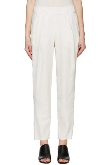 Raquel Allegra - Beige Linen Lounge Pants