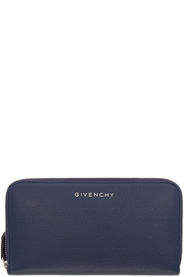 Givenchy - Navy Leather Long Wallet