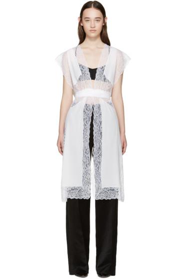 Givenchy - White Silk & Lace Vest
