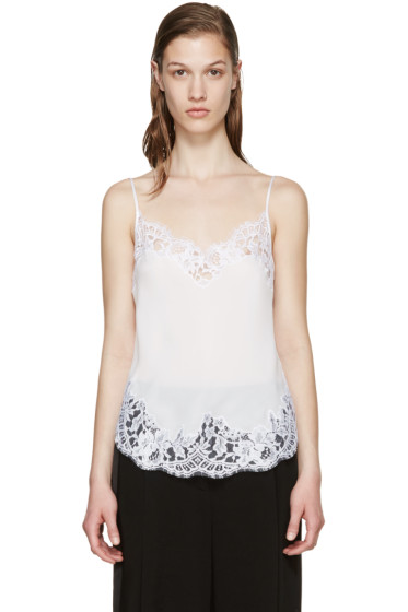 Givenchy - White Silk & Lace Camisole