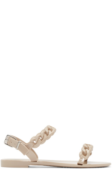 Givenchy - Beige Jelly Chain Sandals