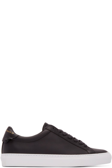 Givenchy - Black Leather Knot Low-Top Sneakers