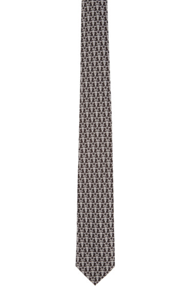 Givenchy - Black Silk Stars & Trident Tie