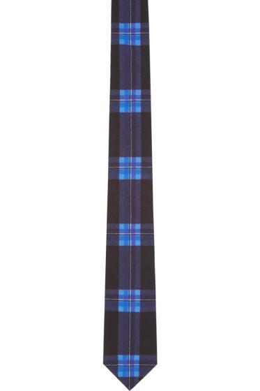 Givenchy - Black & Blue Check Tie