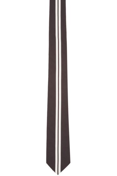 Givenchy - Black & White Striped Tie