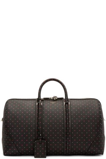 Givenchy - Black Leather Jacquard Duffle Bag