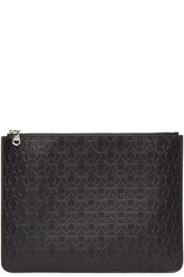 Givenchy - Black Leather Trident Pouch
