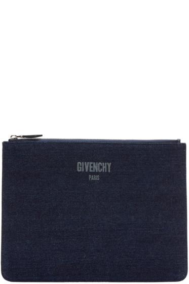 Givenchy - Indigo Denim Pouch