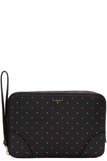 Givenchy - Black Printed Travel Case