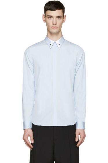 Givenchy - Blue Silver Star Collar Shirt