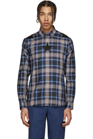 Givenchy - Navy Check Star Shirt