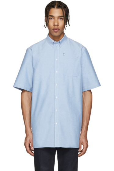 Givenchy - Blue Chambray Cross Shirt