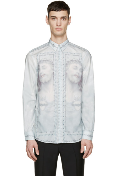 Givenchy - Blue Jesus & Barbed Wire Shirt