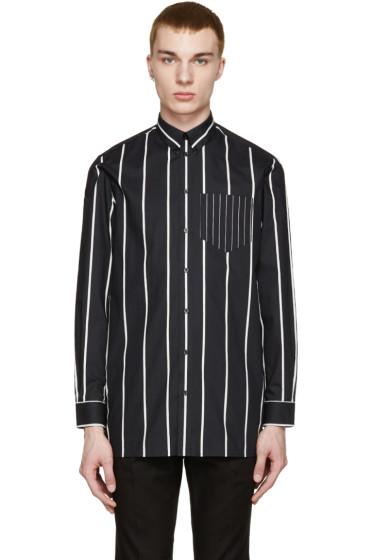 Givenchy - Black & White Oversized Striped Shirt