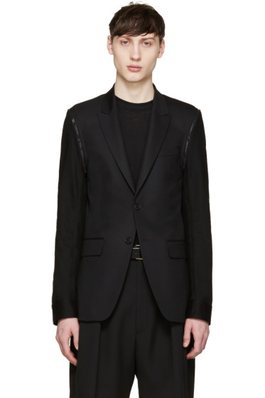 Givenchy - Black Denim Sleeve Blazer