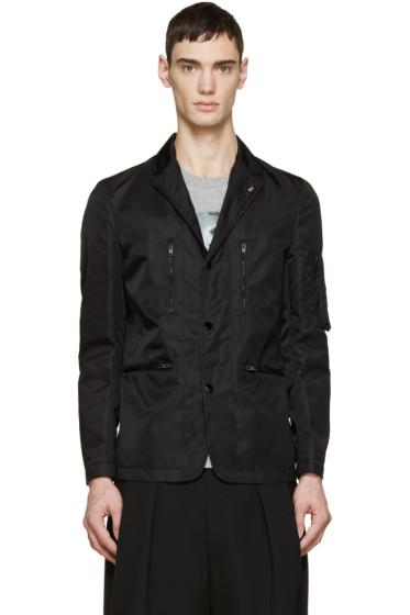 Givenchy - Black Nylon Bomber Blazer
