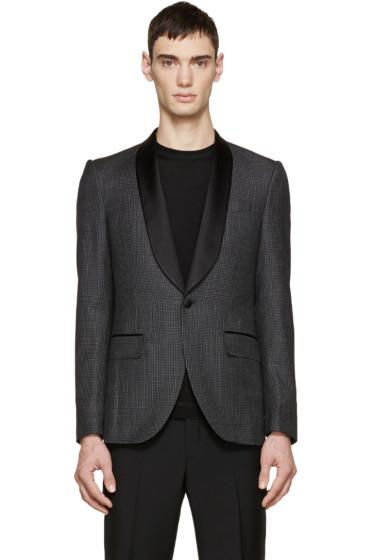 Givenchy - Black Wool Check Blazer