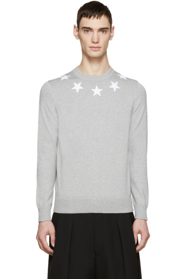 Givenchy - Grey Knit Star Sweater
