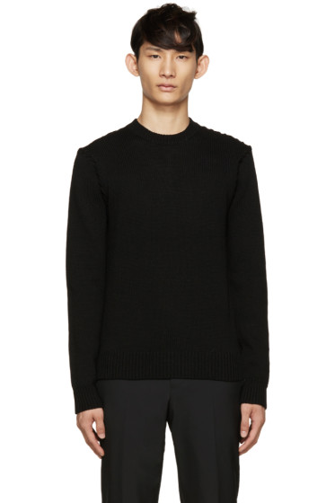 Givenchy - Black Topstitched Sweater