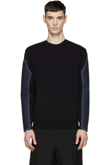 Givenchy - Navy Denim Patch Sweater