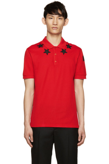 Givenchy - Red & Black Star Polo